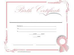Free Birth Certificate Template 04