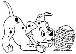 Disney Easter Eggs Coloring Pages Dalmatian