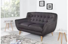 canape tissu design canapé tissu 2 places tekla bleu un canapé avec dossier capitonné