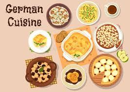 cuisine allemagne icône traditionnelle de dîner de cuisine allemande illustration de