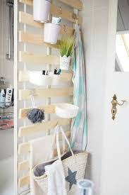 diy vertical bathroom storage using ikea bed slats