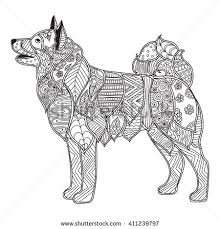 Print Coloring Dog Breed Pages