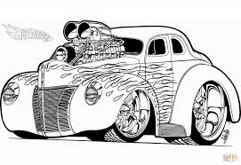 Click The Hot Wheels Rod Coloring Pages