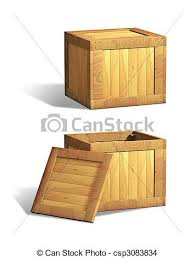 Wooden Crates Stock Illustration