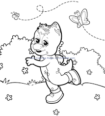 Coloring Barney And Friends Pages