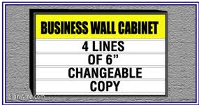 lighted outdoor business wall signs