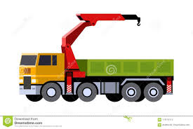 Knuckle Boom Crane Truck Stock Vector. Illustration Of Automotive ...