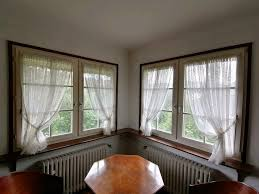 fenster gardinen set weiß mit tunnel oben und bordüre gebraucht