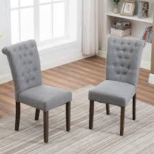 Set Of 2 Stylish Upholstered Fabric Dining Chairs With Nailhead Detail&Wood  Legs | EBay Details About Set Of 2 Classic Parson Ding Chairs Living Room Nailhead Trim Tall Backrest Tan Parsons Merax Stylish Tufted Upholstered Fabric With Detail And Solid Wood Legs Beige Kaitlin Transitional Style Nailhead Trim 7 Piece Ding Set Chair Ginnys Armless Abbyson Sienna Leather Hooker Fniture Sorella Side Turned Lionel Modern Grey Wing Back Ambrosia Rustic Bar Wilson Home Ideas How To Make Black