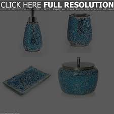 Crackle Glass Bathroom Set by Blue Mosaic Bathroom Accessories