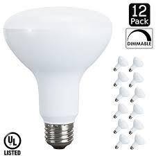 luxrite lr31814 12 pack 10 watt led br30 flood light bulb 65w