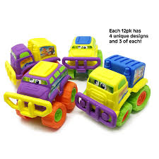 99 Monster Truck Party Favors BOLEY 12Pack LARGE Toys In Assorted Colors And