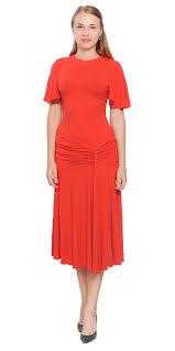 womens drop waist midi dress elegant lady vintage retro swing