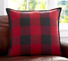 Pottery Barn Large Decorative Pillows by Buffalo Check Plaid Pillow Cover Pottery Barn