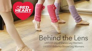 leg warmers for young dancers made in red heart soft baby steps