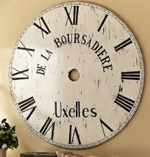 Big Huge Pottery Barn Inspired Wall Clock – Scavenger Chic