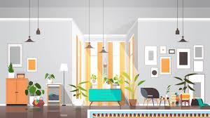 leer keine menschen wohnzimmer innen moderne wohnung mit