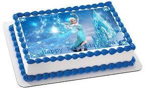 Frozen Elsa Edible Birthday Cake Topper OR Cupcake Topper Decor