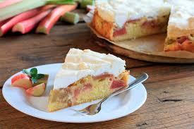 rührkuchen mit pudding und rhabarber
