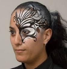 Halloween Half Mask Makeup by 28 Best Mask Makeup Images On Pinterest Masks Avant Garde And