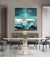 soft abstract painting square 60 x 60 large