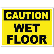 Caution Wet Floor Banana Sign by 4 Pack Of Caution Wet Floor Stand Signs Cone Yellow Caution Wet