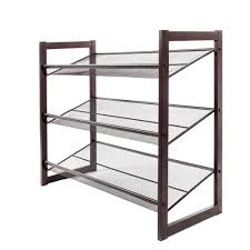 3 Tier Metal Shoe Rack 12 Pair Wall Bench Shelf Closet Organizer