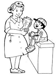 Coloring Pages For Kids Hospital Doctors Nurses