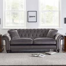 Empress 3 Piece Upholstered Fabric Sectional Sofa Set Light Gray By Modern Living