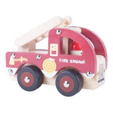 100 Pink Fire Truck Toy Engine Wooden Classic Baby Red 12 Months Xmas Stocking