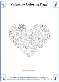 Valentines Day Coloring Pages Printable Hello Kitty Pdf Full Size