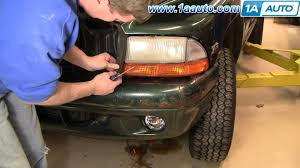 how to install replace fog driving light dodge durango dakota 97