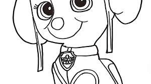 Surging Skye Paw Patrol Coloring Pages