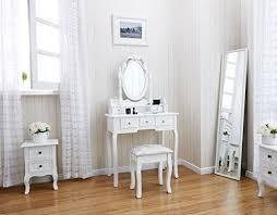chambre a coucher blanc agtc0010 chaise pour coiffeuse blanc meuble miroir de