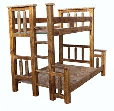 Woodcrest Bunk Beds by Barn Wood Bunk Bed Rustic Twin Over Twin Breck Bears Bunk Beds