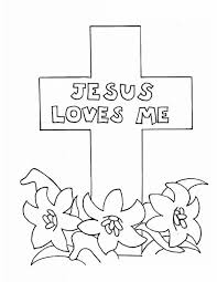 Jesus Loves Me Love Cross Coloring Page
