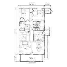 Floor Plan Aflfpw Story Home Baths Houseplanscom Cool Single Open Plans Simple 3d