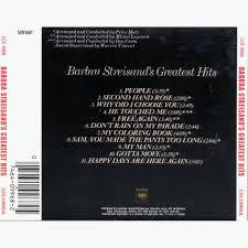 Cover Barbra Streisands Greatest Hits