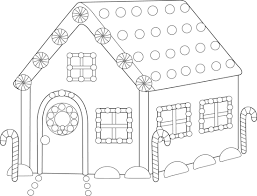 Gingerbread House Coloring Pages Printable For Kids