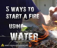 Calcium Carbide Lamp Fuel by 5 Ways To Start A Fire Using Water 7 Steps With Pictures