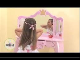 Kidkraft Deluxe Vanity And Chair Set by Kidkraft Princess Vanity Table U0026 Stool 76123 Childrens Role Play