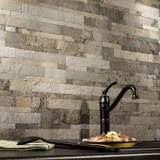 kitchen backsplash peel and stick vinyl tile backsplash self