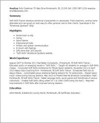 Soft Skills Resume Trainer Capable Templates Samples Large