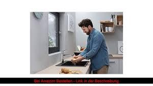 hansgrohe küchenarmatur vorfenstermontage wasserhahn küche 360 schwenkbar umlegbar hoher kom
