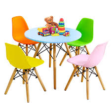Costzon Kids Table And Chair Set, Kids Mid-Century Modern Style Table Set  For Toddler Children, Kids Dining Table And Chair Set, 5-Piece  Set(Colorful, ... Little Kids Table And Chairs Children Oneu0027s Costzon Kids Table Chair Set Midcentury Modern Style For Toddler Children Ding 5piece Setcolorful Custom Made Childrens Wooden And By Fast Piper 4 Chairs 5 Piece Pieces Includes 1 Activity 26 Years Playroom Fniture Costway Wood Colorful Rakutencom Frozen With Storage Dinner Amazoncom Delta U0026 Simple Her Tool Belt