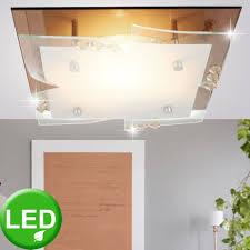 etc shop deckenleuchte 7 watt led decken glas spiegel leuchte chrom kristalle wohnzimmer beleuchtung eek a kaufen otto
