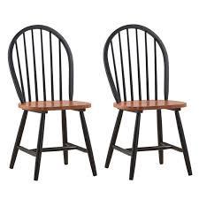 Boraam 31516 Farmhouse Chair, Black/Cherry, Set Of 2