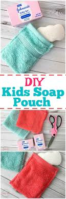 Easy DIY Kids Soap Pouch Save Soap & Get Clean Easier