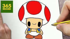 Comment Dessiner Toad Kawaii Étape Par Étape Dessins Kawaii Facile