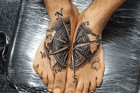 10 Compass Foot Tattoos So Youll Never Lose Your Way